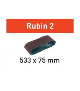 Taśma szlifierska Rubin 2 L533X 75-P100 RU2/10 Festool